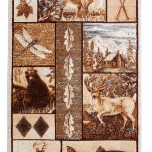 Exotic Reindeer Rug with Elaborate Borders