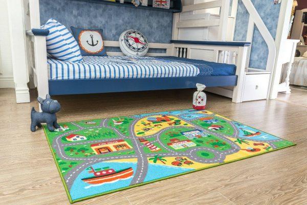 City Street Map Kids Rug for Nursery