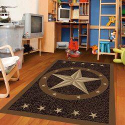 Cowboy Area Kids Rug for Playroom