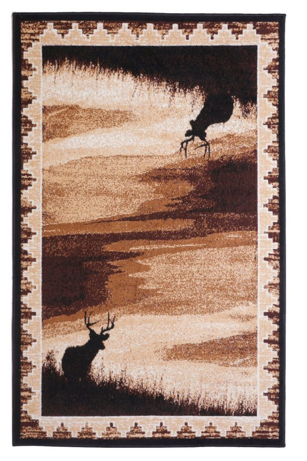 wildlife cabin area rug
