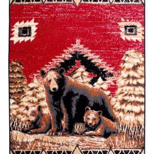 cabin rug with bear print