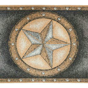 texas star rug with border
