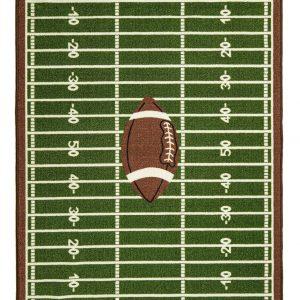 Corner Football Play Area Rug for Kids Playroom