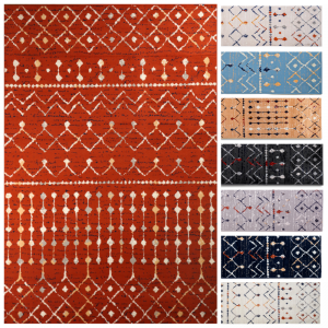Moroccan Style Rug with Transitional Design