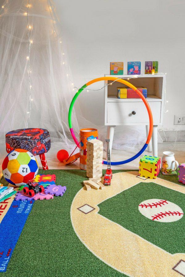 baseball area rug for bathroom