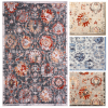 Abstract Area Rug with Rustic Print