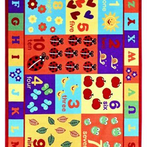 ABC With Numbers ABC Area Rug for Kids